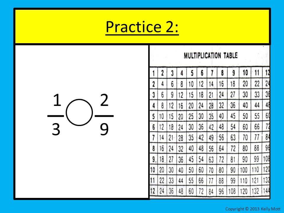 1 2 3 9 Practice 2: Copyright © 2013 Kelly Mott