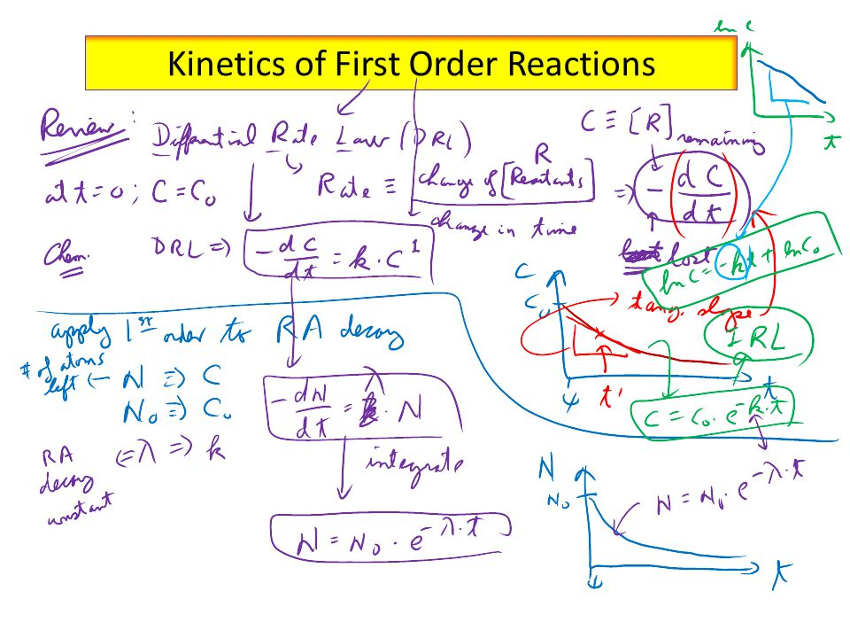 Kinetics of First Order Reactions
