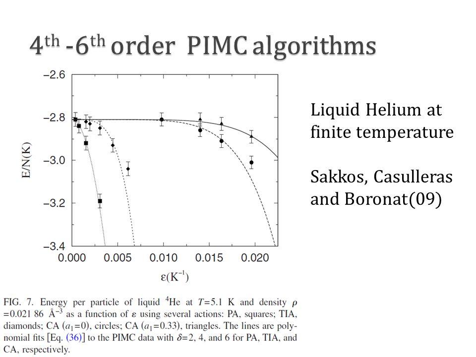 Liquid Helium at finite temperature Sakkos, Casulleras and Boronat(09)