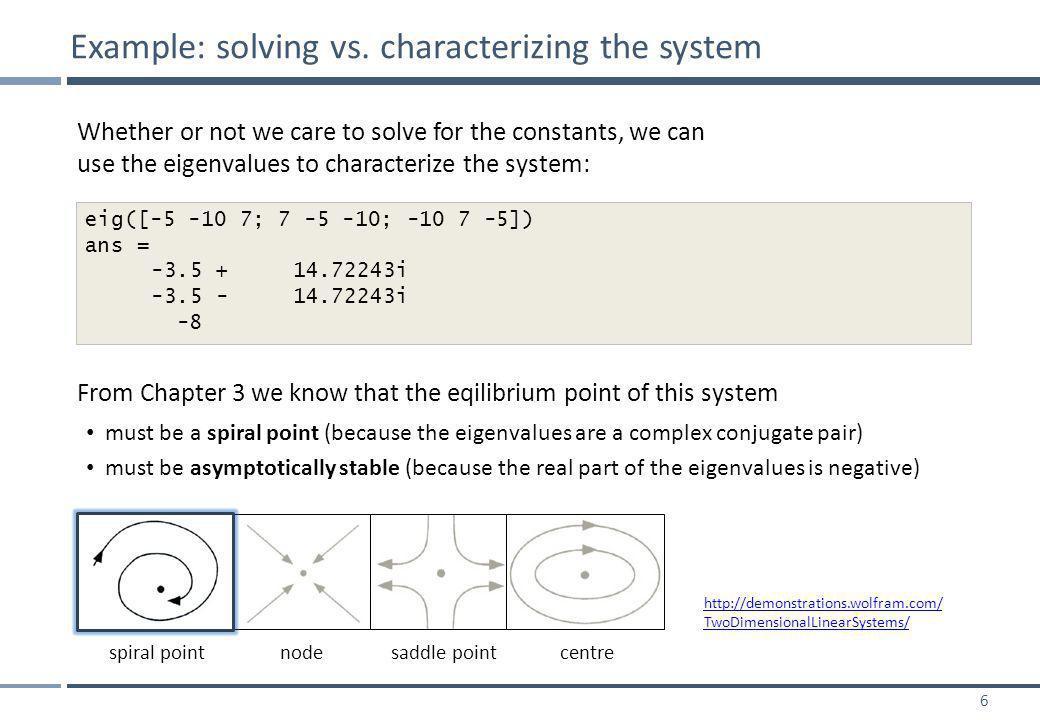 6 Example: solving vs.