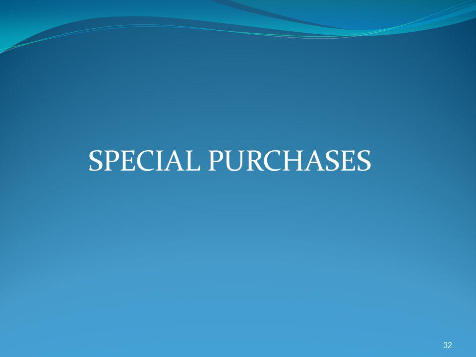 SPECIAL PURCHASES 32