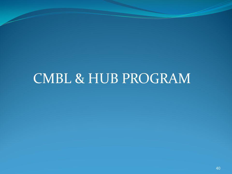 CMBL & HUB PROGRAM 40