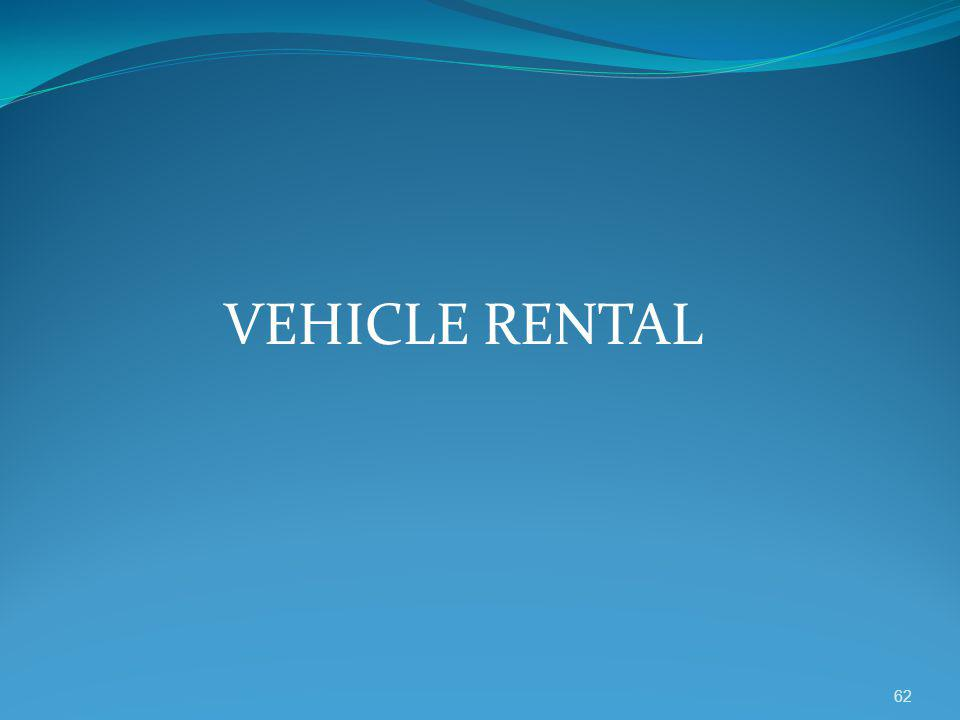 VEHICLE RENTAL 62
