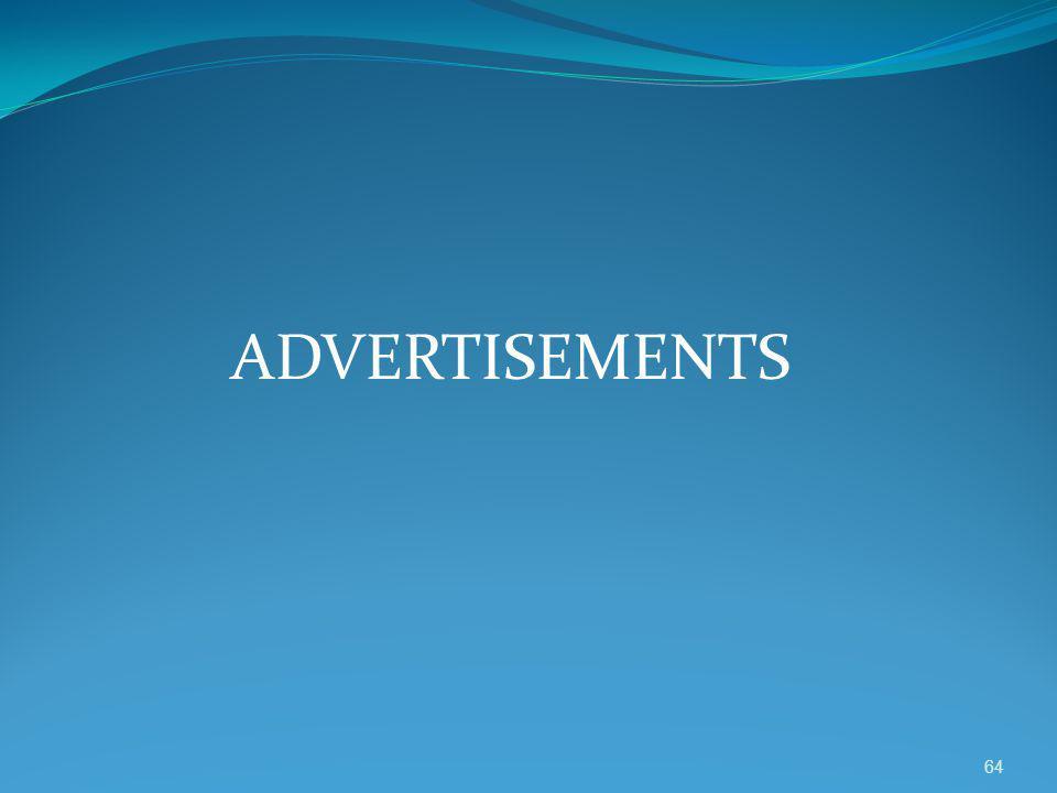 ADVERTISEMENTS 64