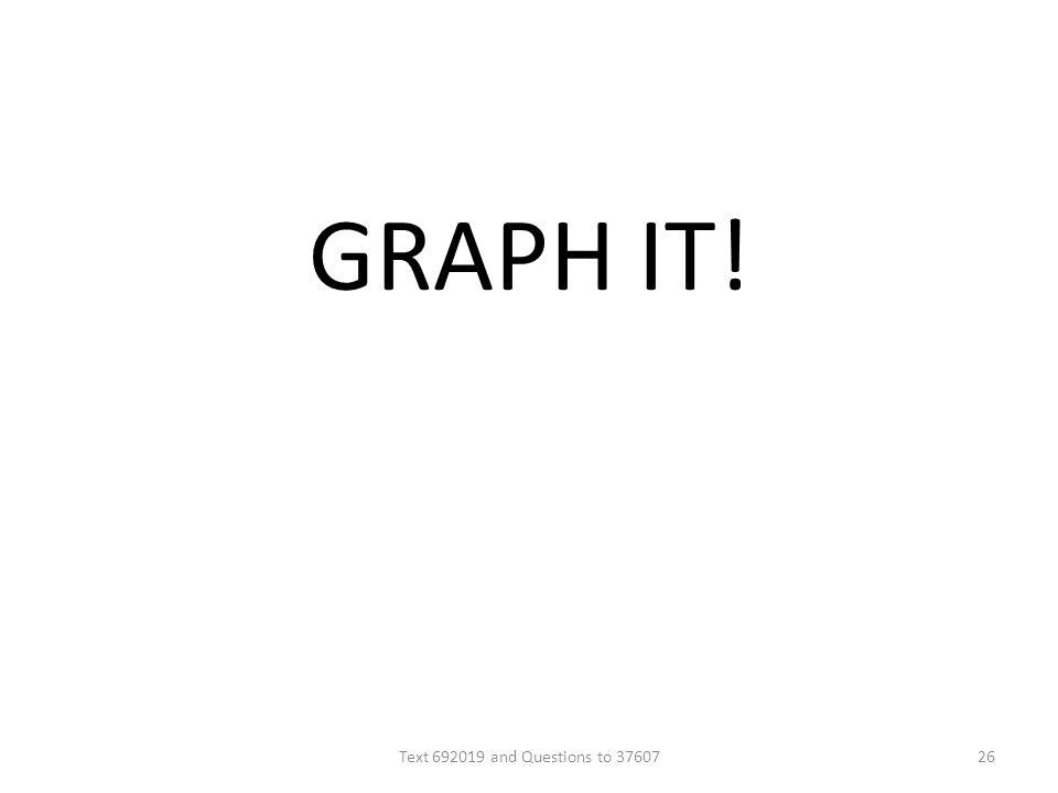 GRAPH IT! Text 692019 and Questions to 3760726