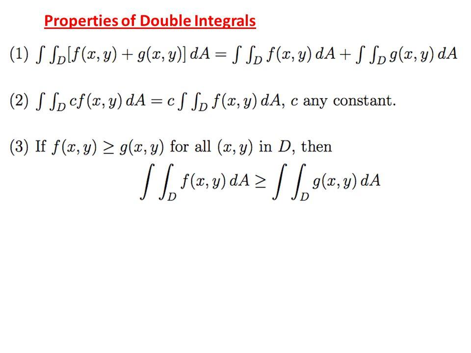 Properties of Double Integrals