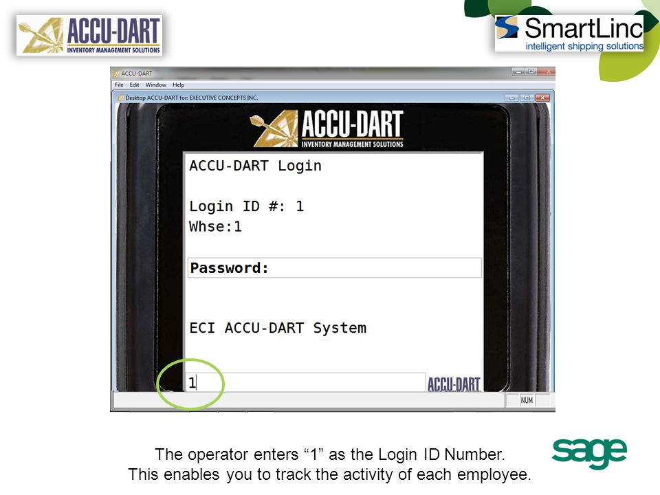 After the correct product is selected, the Serial Number can be scanned, if appropriate, providing proper inventory control.