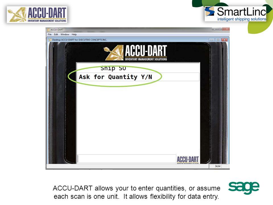 Accu-Dart summarizes the contents of each carton.