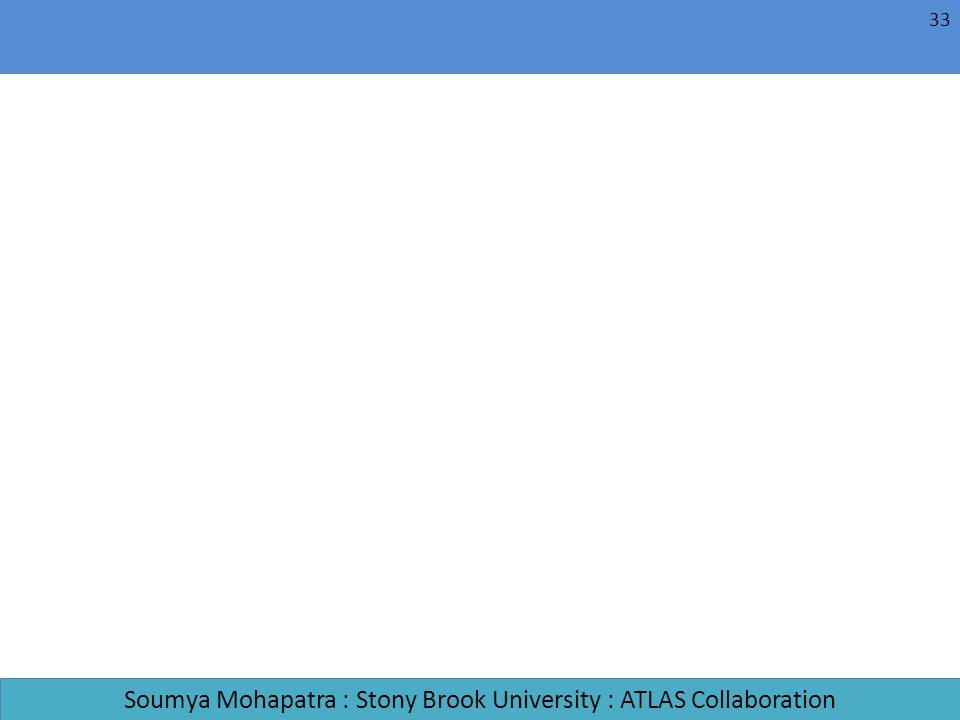 Soumya Mohapatra : Stony Brook University : ATLAS Collaboration 33