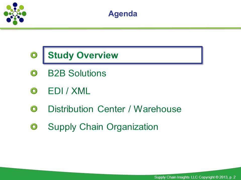 Supply Chain Insights LLC Copyright © 2013, p. 2 Agenda