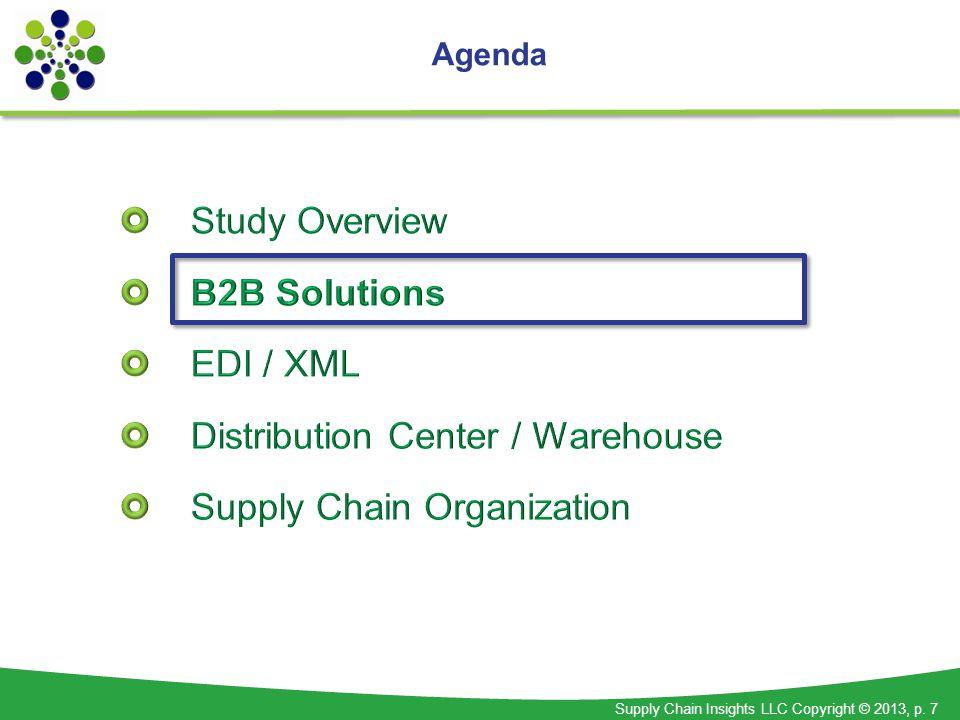 Supply Chain Insights LLC Copyright © 2013, p. 7 Agenda