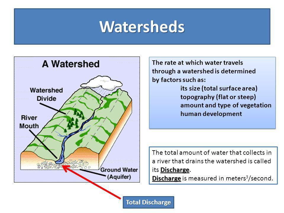 Watershed Dynamics All of the following watersheds are equal in surface area and receive equal rainfall.