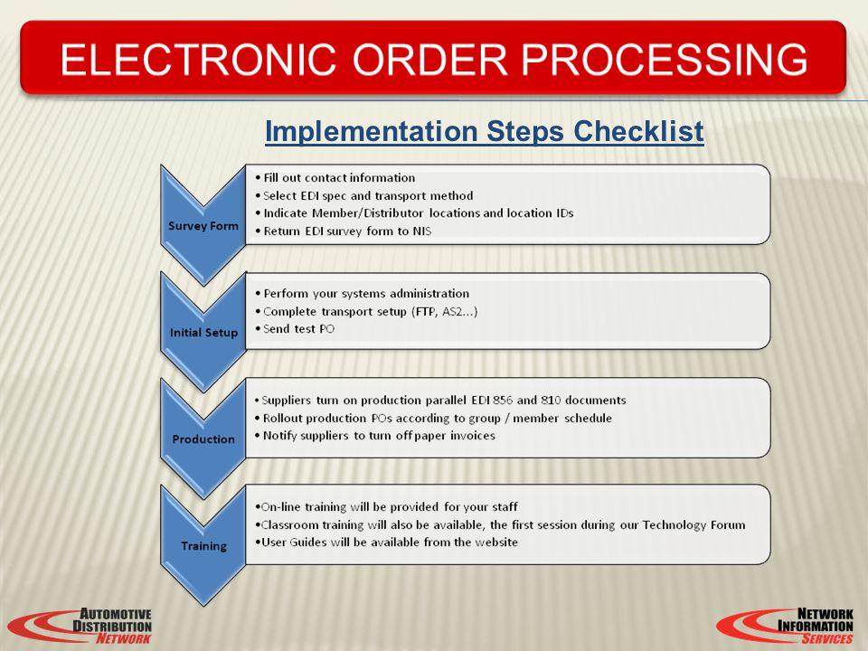 Implementation Steps Checklist