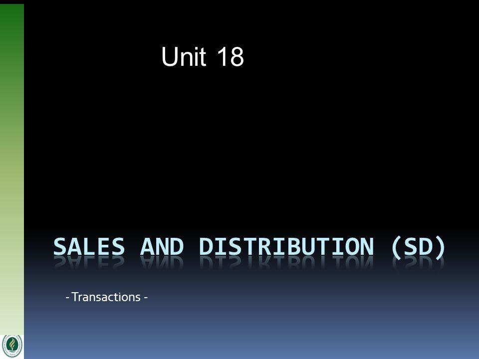 Unit 18 - Transactions -