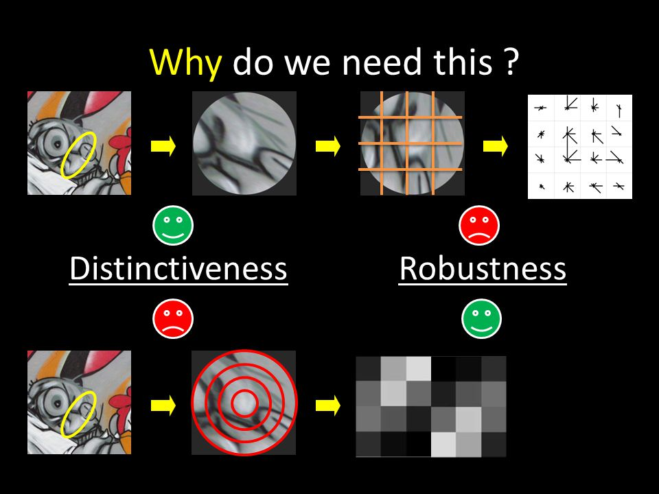 Why do we need this ? RobustnessDistinctiveness