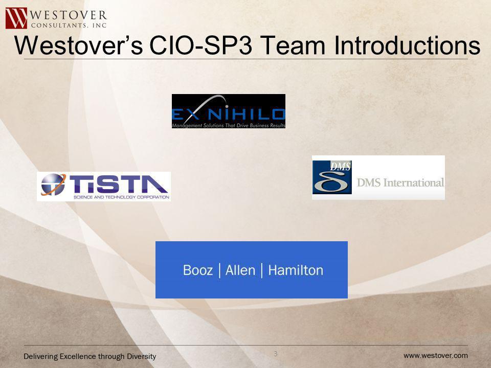 Westovers CIO-SP3 Team Introductions 3