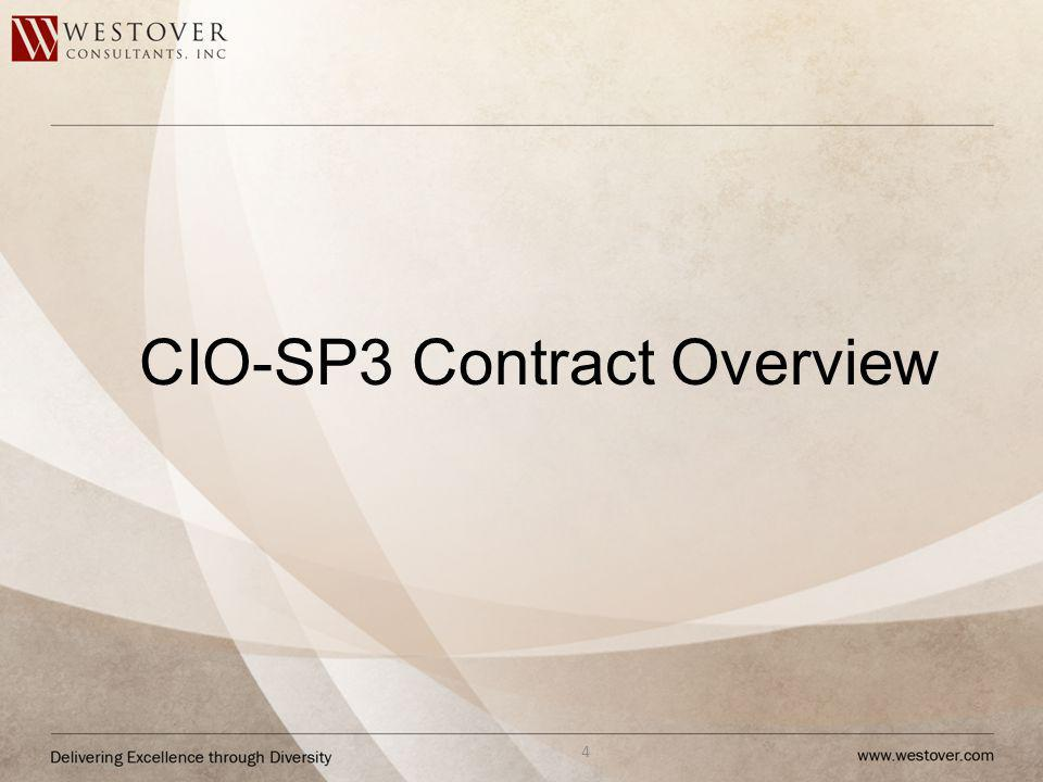 CIO-SP3 Contract Overview 4