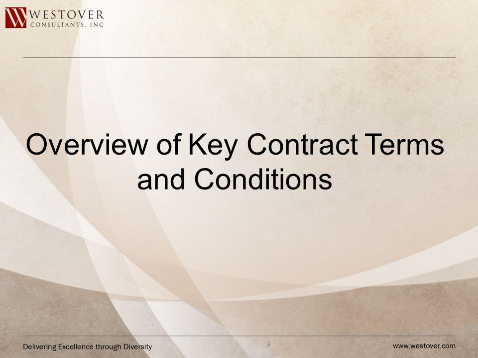 Overview of Key Contract Terms and Conditions 9