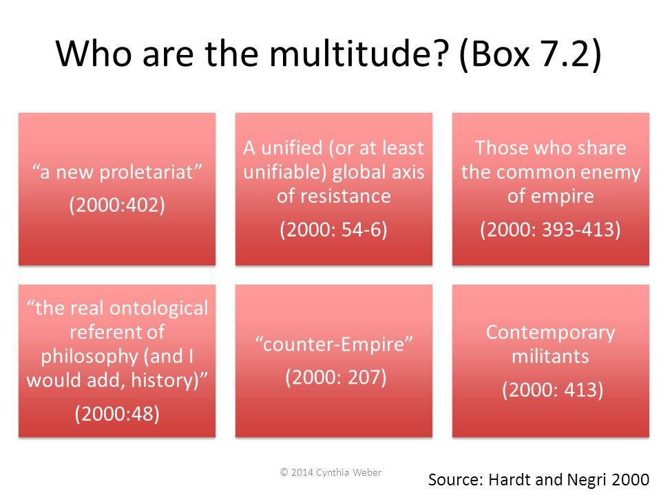 Who are the multitude.