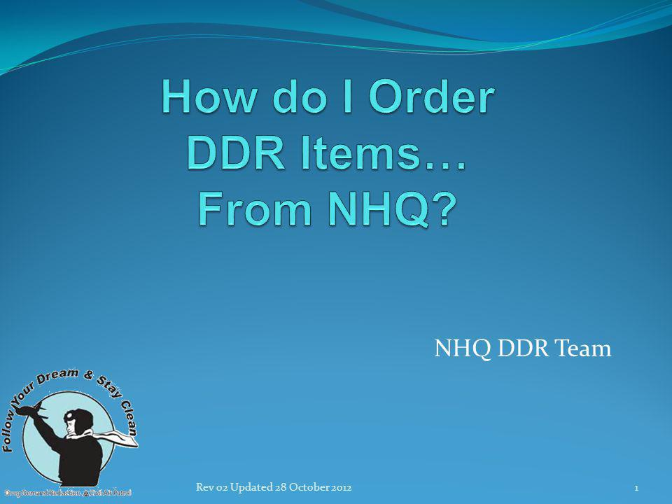 NHQ DDR Team 1Rev 02 Updated 28 October 2012
