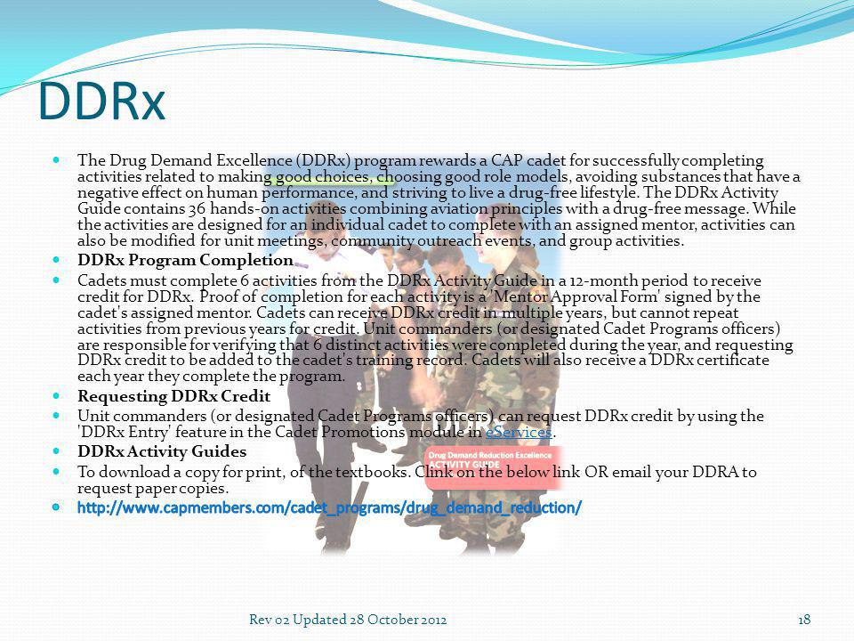 DDRx 18Rev 02 Updated 28 October 2012