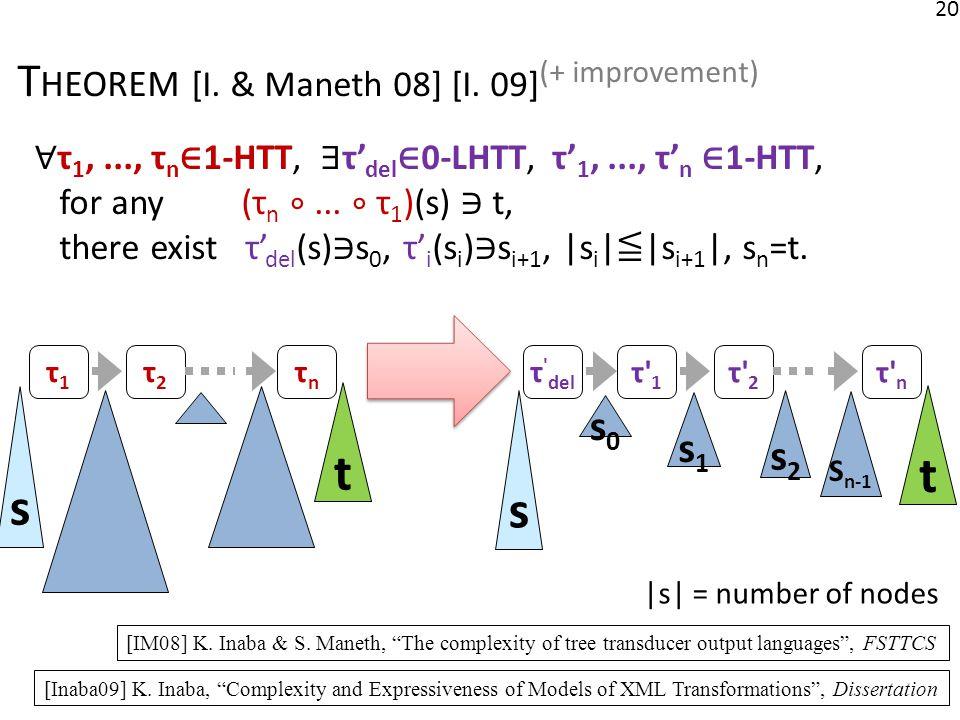 20 T HEOREM [I. & Maneth 08] [I.
