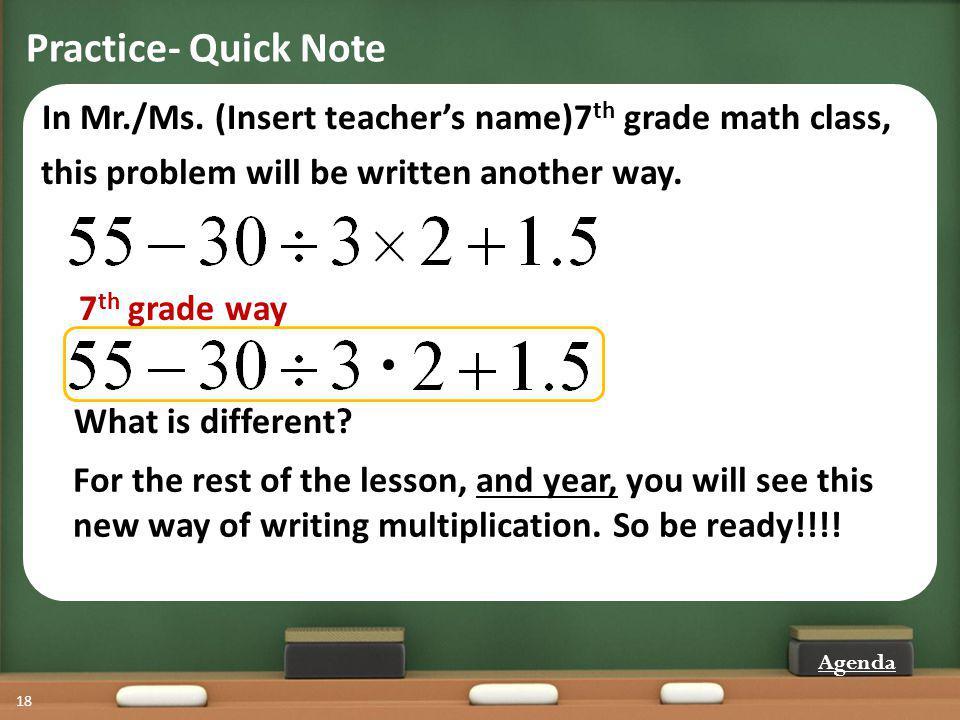 Practice- Quick Note 18 In Mr./Ms.