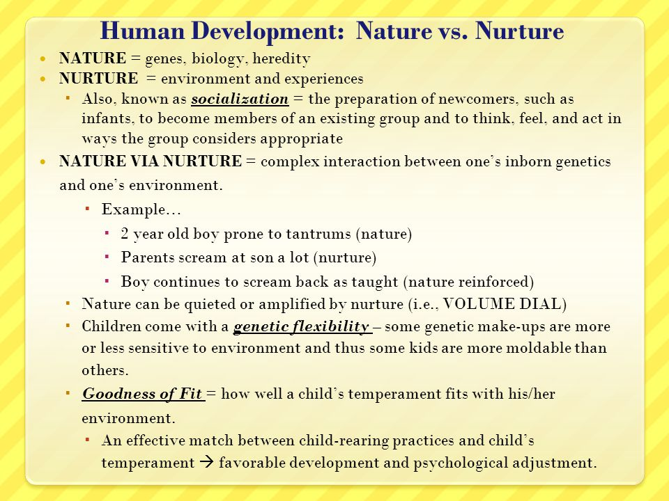 Human Development: Nature vs.