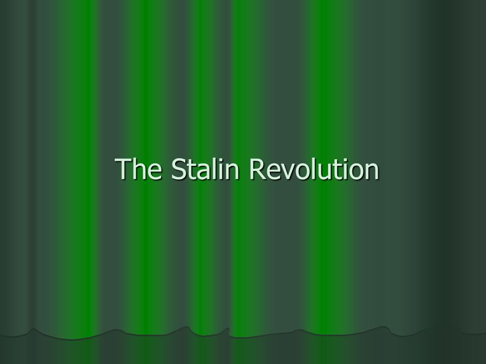 The Stalin Revolution