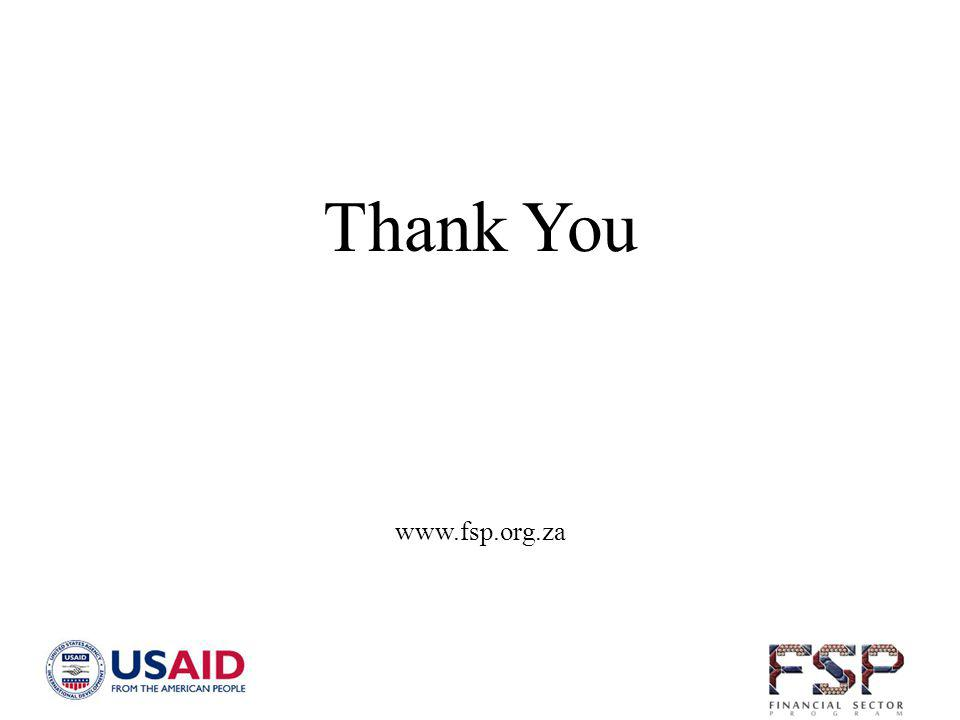 Thank You www.fsp.org.za
