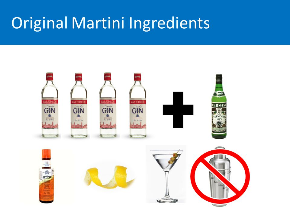 Original Martini Ingredients