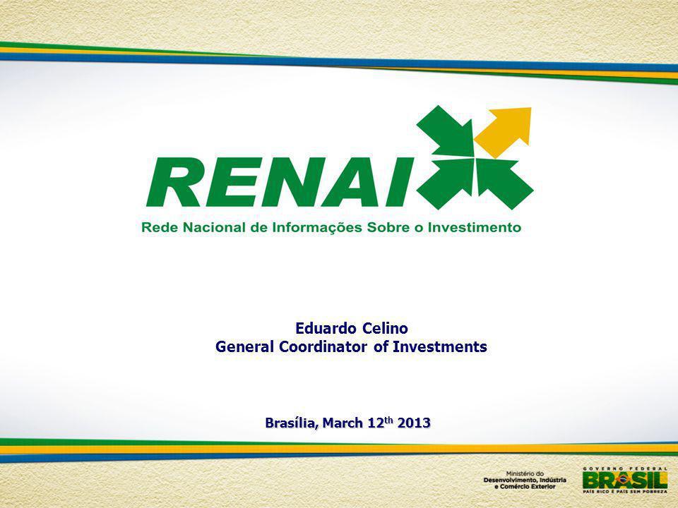 Eduardo Celino General Coordinator of Investments Brasília, March 12 th 2013