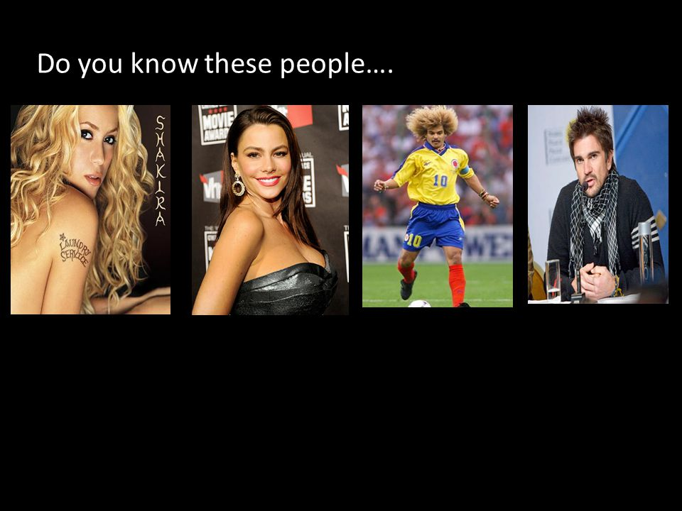 Do you know these people….