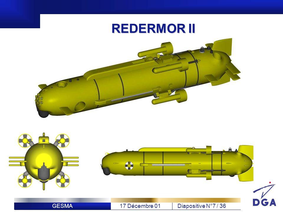 GESMA17 Décembre 01Diapositive N°7 / 36 REDERMOR II