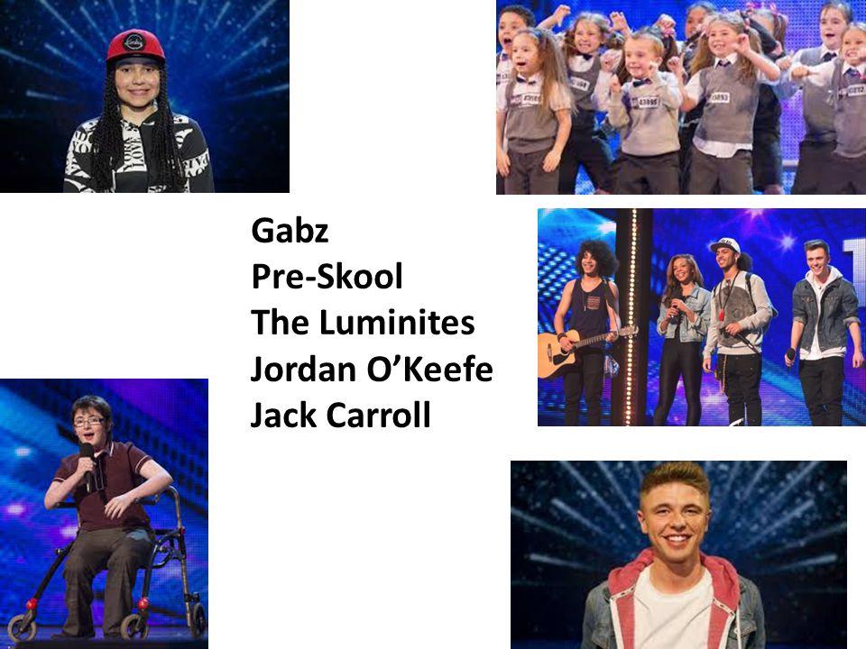 Gabz Pre-Skool The Luminites Jordan OKeefe Jack Carroll
