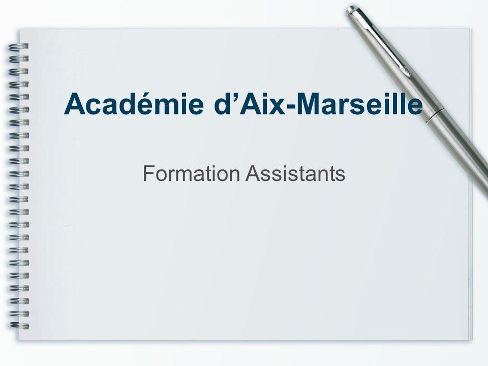 Académie dAix-Marseille Formation Assistants