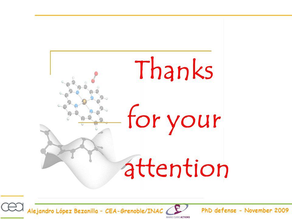 Alejandro López Bezanilla – CEA-Grenoble/INAC PhD defense - November 2009 Thanks for your attention