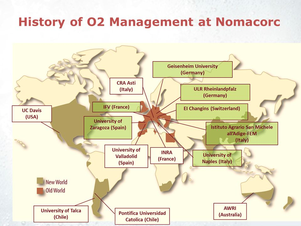 History of O2 Management at Nomacorc Co-extrusion enables production of closures with consistent and controllable oxygen transfer rates Early studies