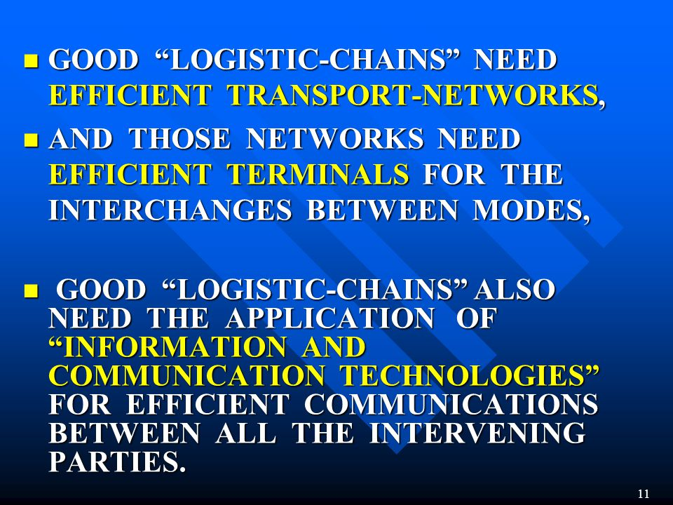 GOOD LOGISTIC-CHAINS NEED EFFICIENT TRANSPORT-NETWORKS, GOOD LOGISTIC-CHAINS NEED EFFICIENT TRANSPORT-NETWORKS, AND THOSE NETWORKS NEED EFFICIENT TERM