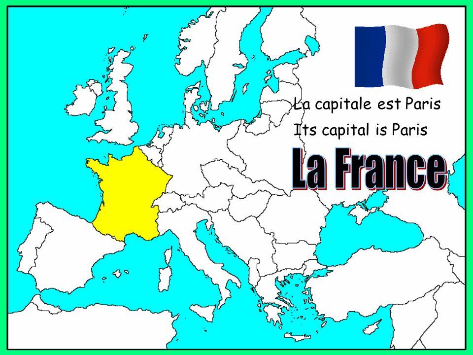 La capitale est Paris Its capital is Paris
