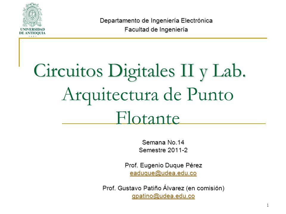 1 Circuitos Digitales II y Lab.Circuitos Digitales II y Lab.