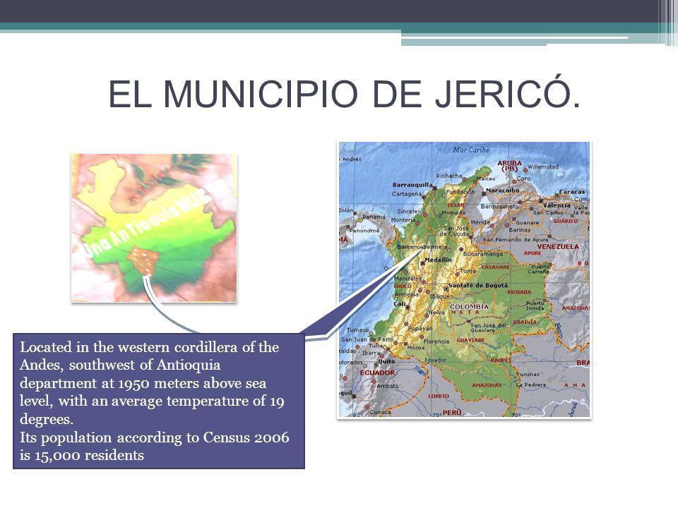 Jericho is a town cult, cultural worshiper and called: The Athens of the Southwest, has status and urban green town that manages environmental stewardship, its water sources that feed a hydroelectric dam, the manners of its people and the religious spirit which is exemplary in the Department.