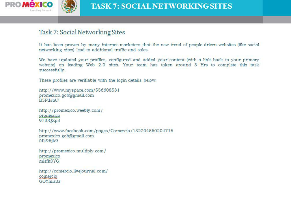 TASK 7: SOCIAL NETWORKING SITES