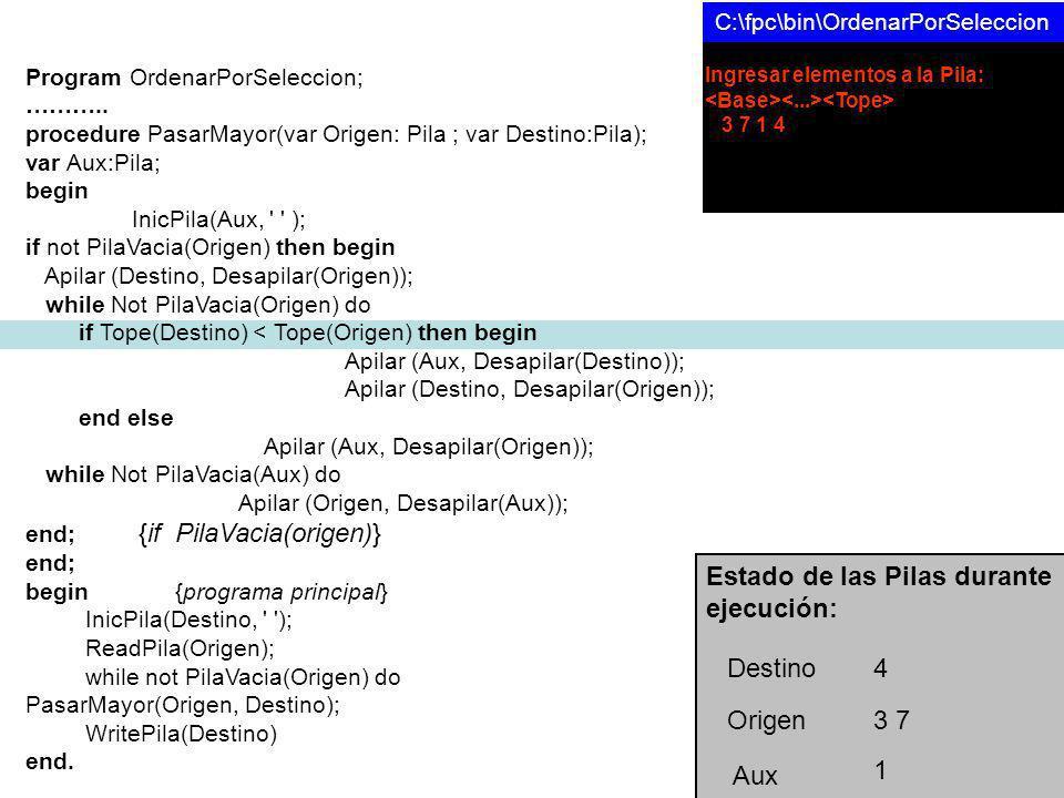 Program OrdenarPorSeleccion; ………..