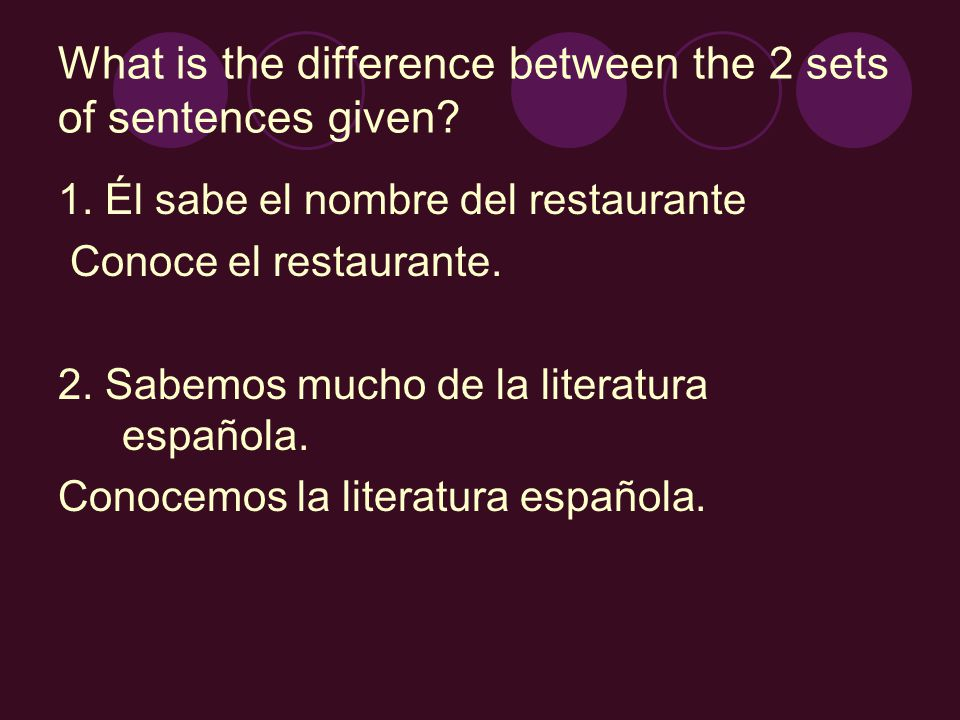 What is the difference between the 2 sets of sentences given.