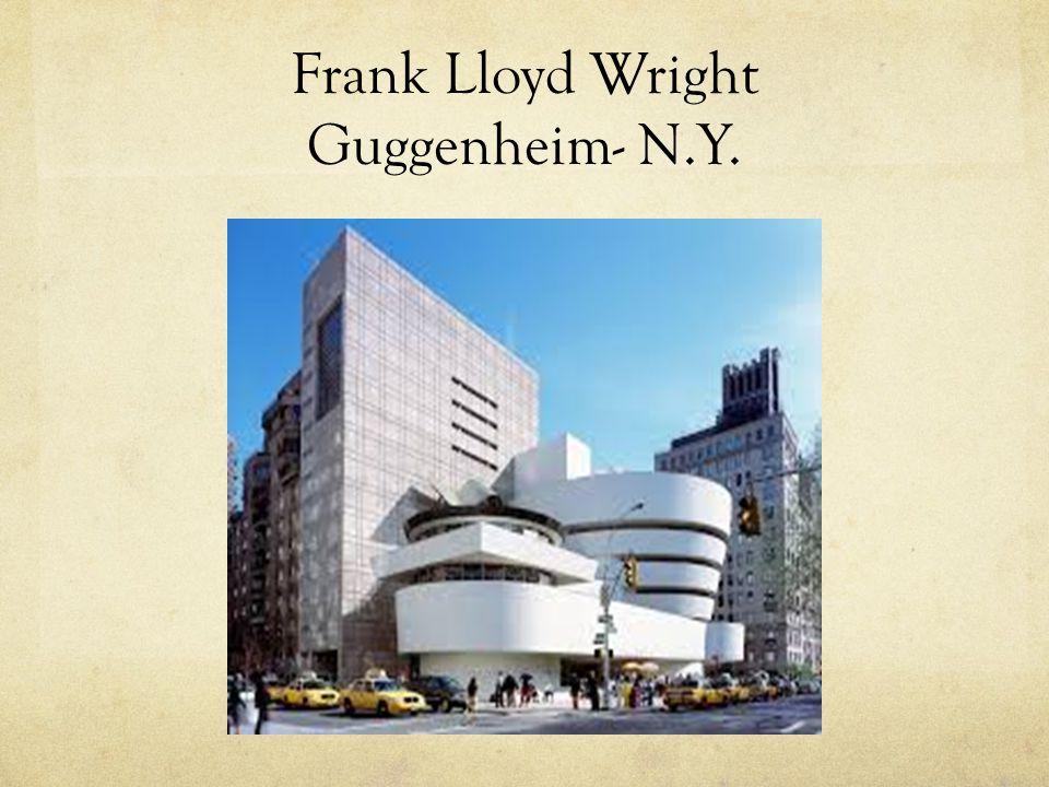 Frank Lloyd Wright Guggenheim- N.Y.