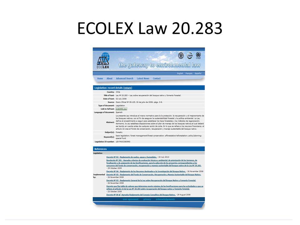 ECOLEX Law 20.283