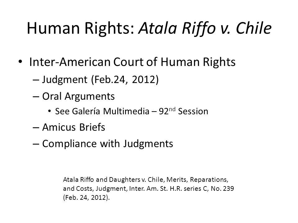 Human Rights: Atala Riffo v.