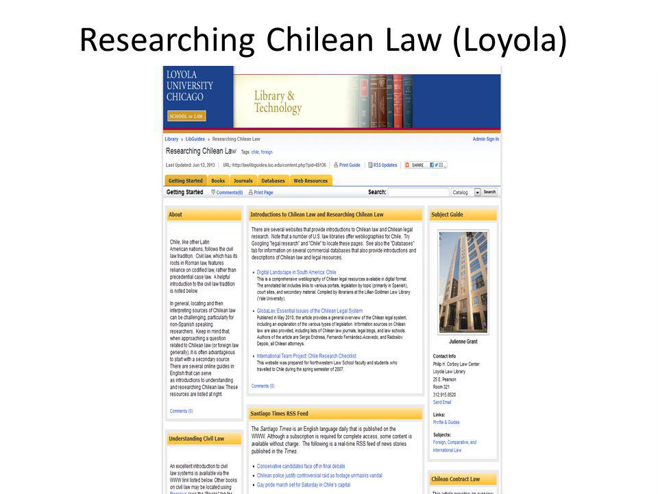 Researching Chilean Law (Loyola)