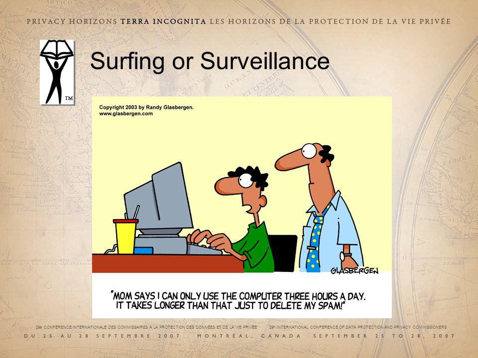 29e CONFÉRENCE INTERNATIONALE DES COMMISSAIRES À LA PROTECTION DES DONNÉES ET DE LA VIE PRIVÉE 29 th INTERNATIONAL CONFERENCE OF DATA PROTECTION AND PRIVACY COMMISSIONERS Surfing or Surveillance
